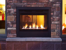 Twilight Modern Gas indoor outdoor fireplace